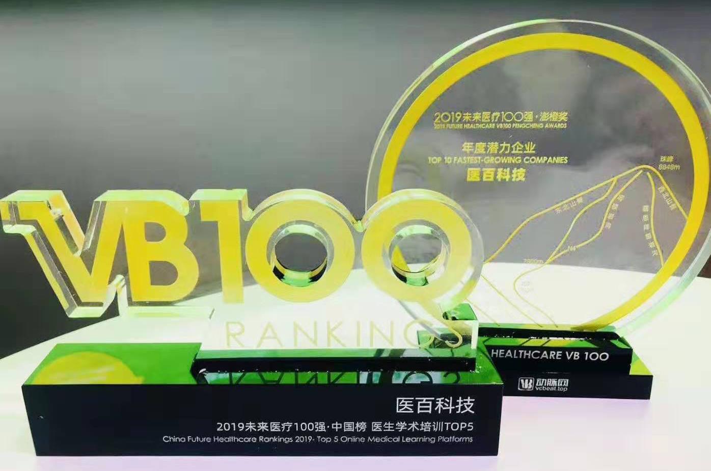 """""""2019未来医疗100强""""榜单发布,医百科技荣登两项潜力级行业榜单"""